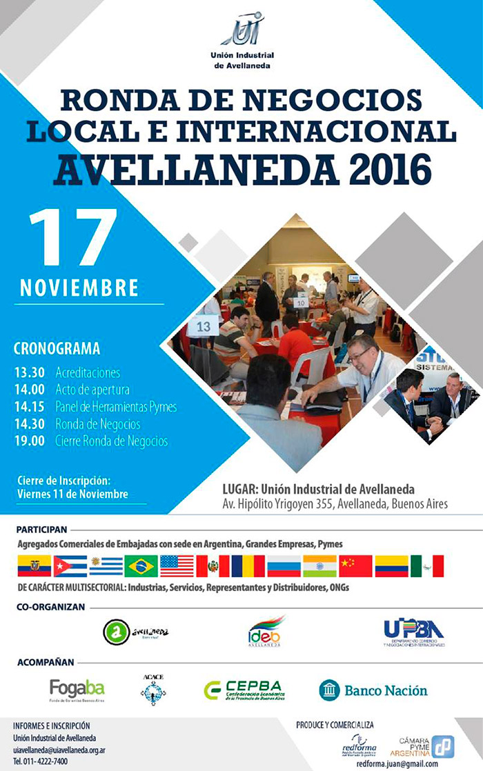 Ronda de Negocios Local e Internacional Avellaneda 2016